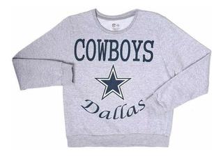 Sudadera Gris Dallas Cowboys Nfl Para Adolescentes
