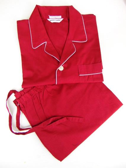 Pierre Cardin Pijama Caballero Camisola Xl Rojo Azafran