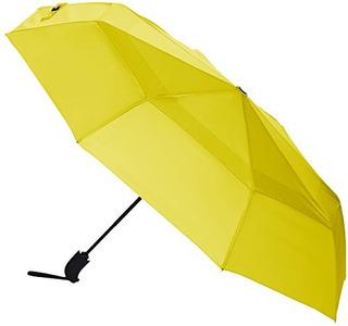 Amazonbasics Paraguas Con Ventilacion De Viento Color Amaril