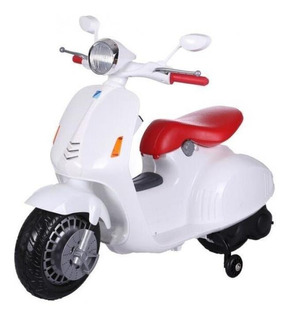 Moto A Bateria Simil Vespa Luces Musica Reproduce Mp3 Jem