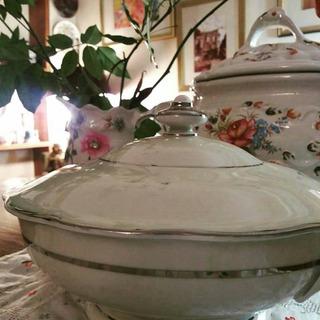 Sopera Porcelana Alemana Kpm Impecable Vajilla Loza Antigua