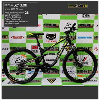 Bicicleta Gti Aro 26 Doble Suspension De Aluminio Montañera