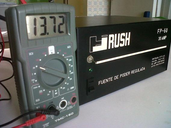 Fuente De Poder Marca Rush, Modelo Fp-60, 13,8 Volt. 30 Amp