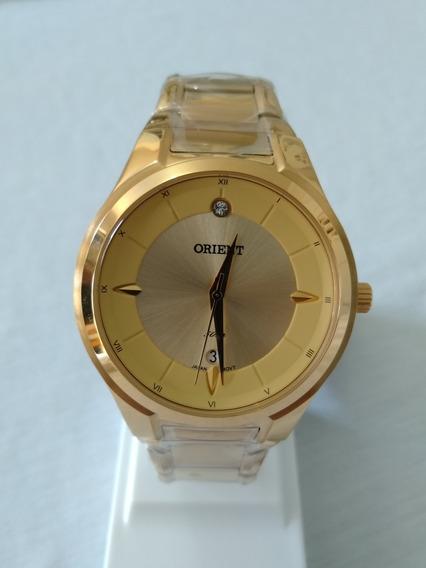 Relogio Feminino Dourado Orient Fgss1097c1kx Original.