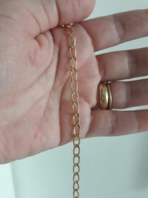 Pulseira Elos Iguais 15 Microns Ouro 18k 18cm