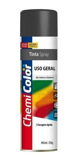 5 Tintas Spray Uso Geral Preto Fosco 400ml S Juros