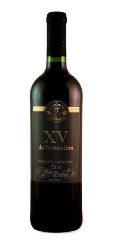 Imagem 1 de 1 de Vinho Tinto Suave Bordô 720ml - Xv De Novembro