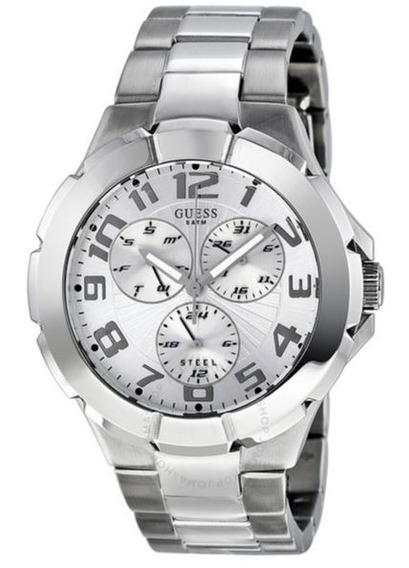 Relógio Guess Prata Aço Inox Unissex Seminovo