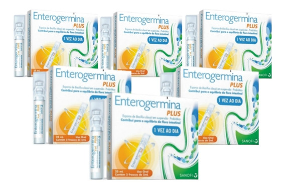 Kit 6 Enterogermina Plus 4 Bcfu/5ml X 5 Frascos Sanofi