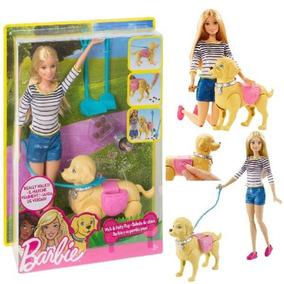 Barbie Passeio Com Cachorro Pup Faz Coco Mattel Dwj68 + Nfe