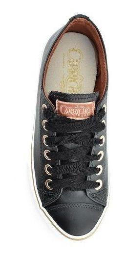 Tênis Casual Feminino Capricho Like Class Preto/cobre Cp0542