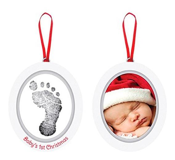 Adorno Decoración Bebé Foto Con Huella Navidad Skip Hop