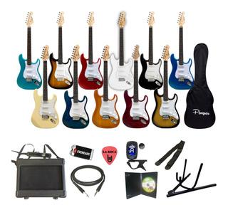 Combo Guitarra Electrica + Amplificador + Funda + Accesorios