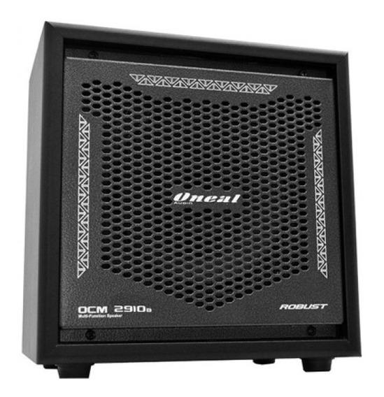 Caixa Amplificada Multiuso Ocm2910b Robust Line C/ Bateria