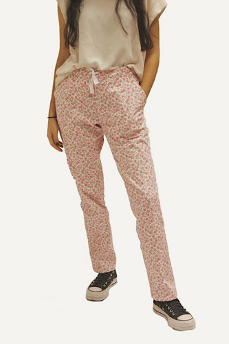 Pantalón Casual Flowers  + Tapaboca Bicapa Onpants