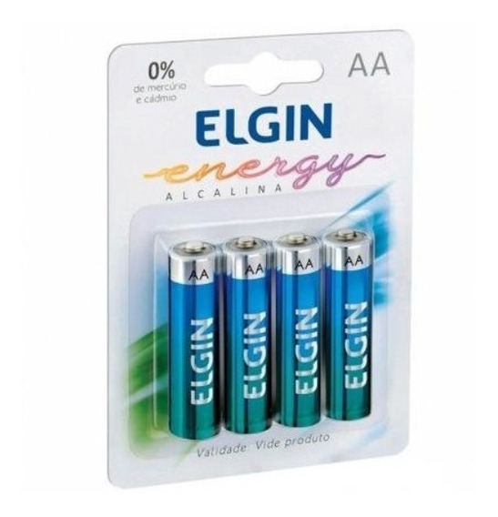 20 Pilha Alcalina Aaa Elgin Energy Lr03 1.5v (4x5)