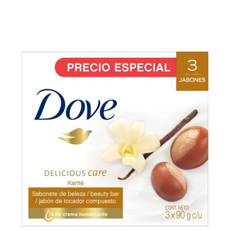 Jabón en barra Dove Karité y Vainilla 90g pack x 3