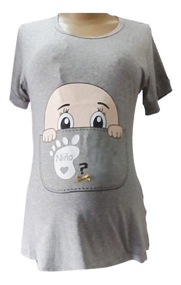 Camiseta Materna En Algodón Ropa De Maternidad