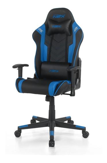 Cadeira Gamer Dxracer Nex Preta / Azul (ok134/nb)
