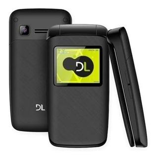 Celular Dl Yc330 Flip Dual Chip Rádio Fm Mp3 Preto