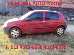 Clio 1.0 8v 02 Sucata Motor Cambio Capo Porta Direção Farol