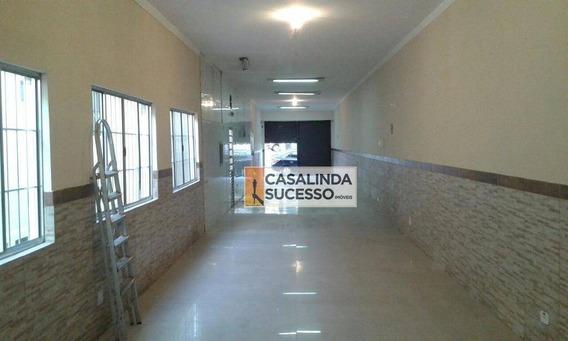 Salão Comercial 120m² 2 Wc Ótimo Ponto - Sl0044 - Sl0044