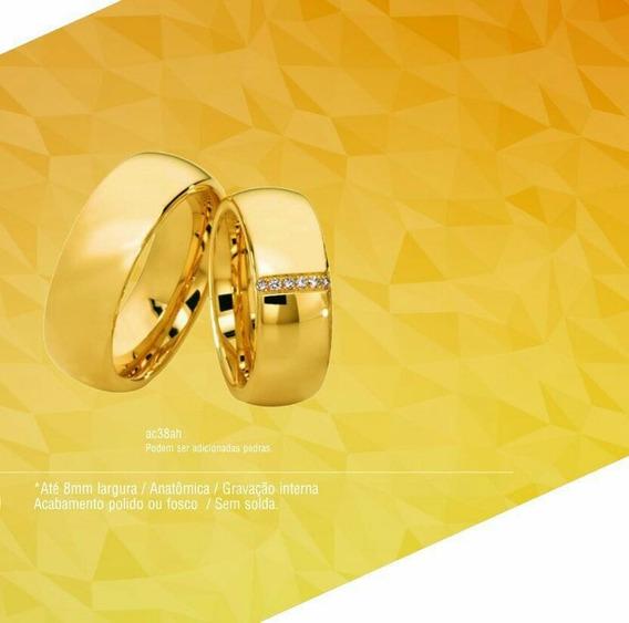 Aliança De Ouro 18 K