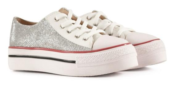Zapatillas De Niñas De Tela En Blanco Minibatistella