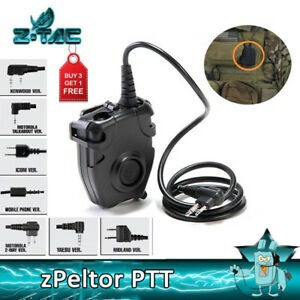 Ptt Z112 Push To Talk Fone Radio Baofeng Airsoft Z Tac M4