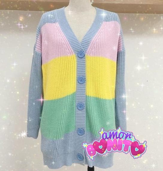 Sweater Kawaii Rainbow Pastel