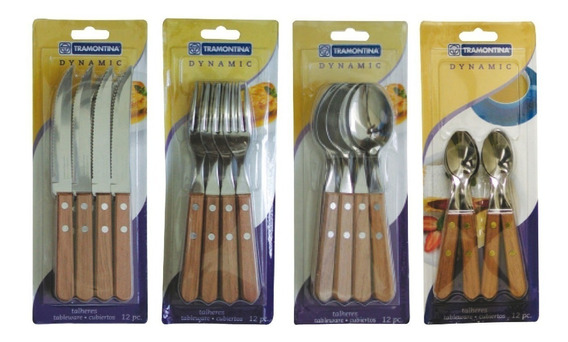 Cubiertos X48 Tramontina Dynamic Cuchillo Tenedor Cuchara