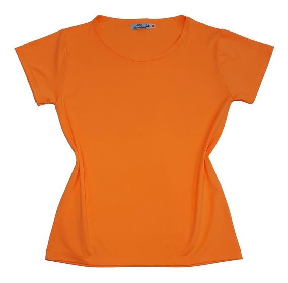T-shirt Blusinha Camiseta Feminina Rosa Neon Fluorecente