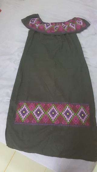 Vestido Bordado Por Manos Mayas