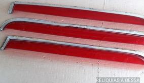 Calha Chuva Vermelha Fusca Acessório Época Vw Rara + Brinde