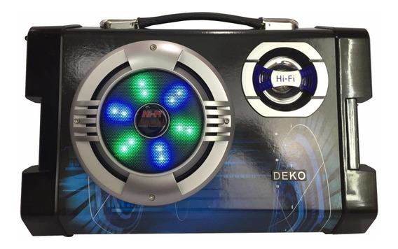 Caixa De Som Pret Portatil Bluetooth Amplificada E Microfone