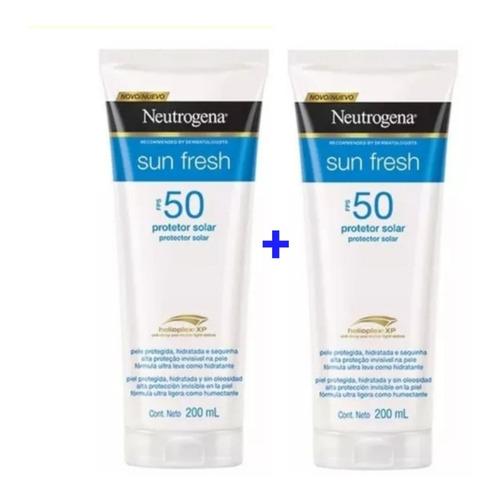 Kit 2 Protetor Solar Neutrogena®sun Fresh Fps 50 200ml