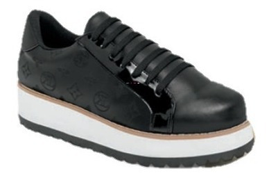 Zapato Tenis Suela Gruesa Negro Dama