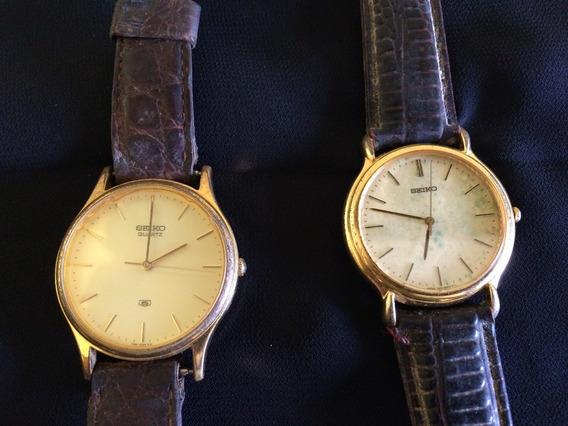 Lote 2 Relógios De Pulso Unissex Seiko Quartz