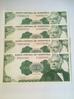 Combo Billetes Venezolanos Bs. 20