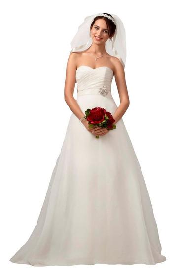 Vestido De Noiva Branco 2 Em 1 - 42 - Fotos Reais - Vn00138