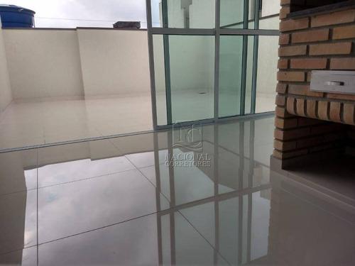 Cobertura Com 2 Dormitórios À Venda, 112 M² Por R$ 400.000,00 - Parque Novo Oratório - Santo André/sp - Co5470