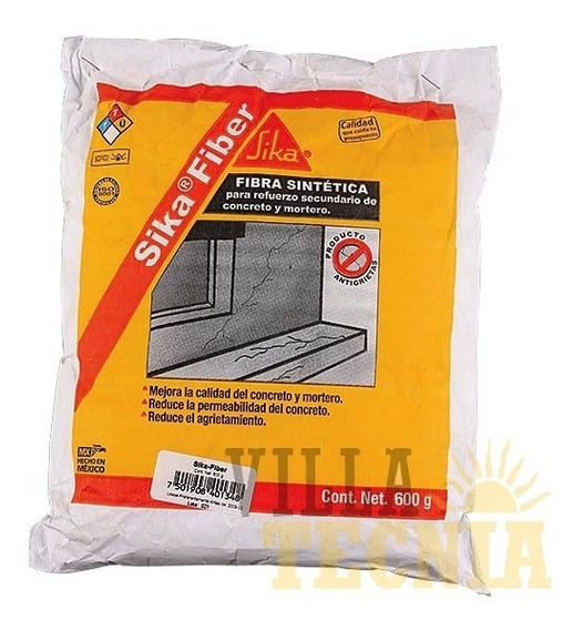 Sellador Impermeabiliza Concreto Sika Fiber 600g Sella Poros