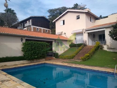 Bela Casa Em Atibaia No Condomínio Flamboyant - 1090