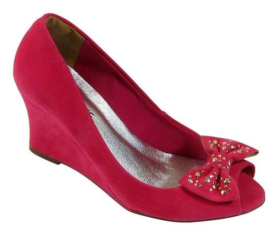 Sapato Anabela Alta Via Marte Original