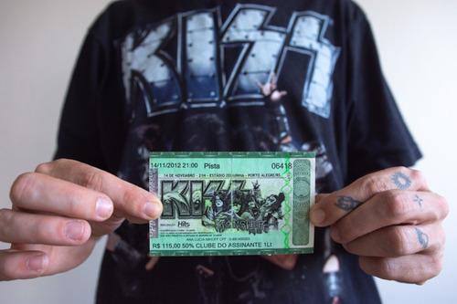Ingresso E Camiseta Kiss Oficial Tour 2012