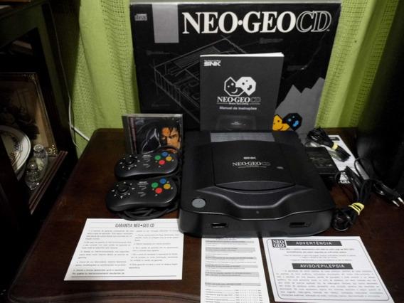 Neo-geo Cd +cx+fonte+2controles+manual+jogo.pio-agni Games