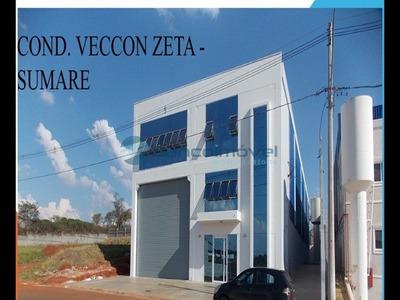 Barracao Industrial Em Sumaré - Sp, Loteamento Industrial Veccon Zeta - Ba00195