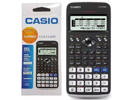 Calculadora Cientifica Casio Fx-570ex 552 Funciones Classwiz