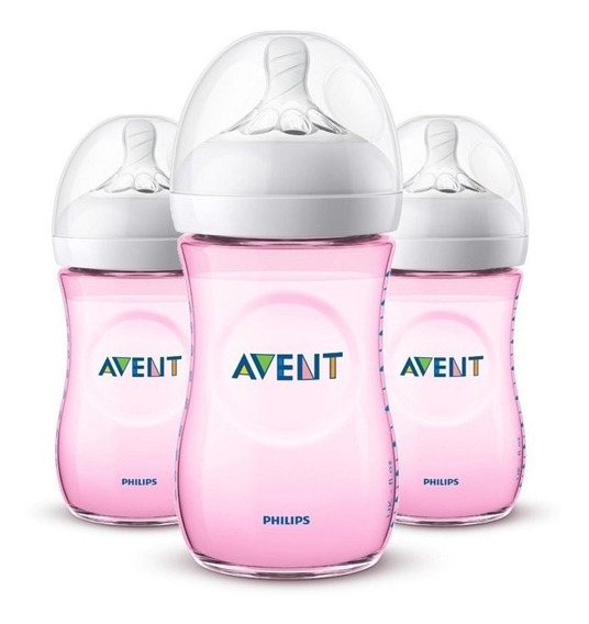 Kit 3 Mamadeira Philips Avent 260ml Bico Pétala Anticólica