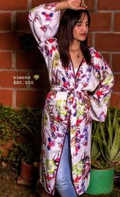 Kimono Saten Con Aberturas